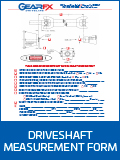Driveshaft Measurement Form