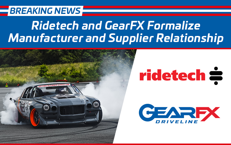 Ridetech and GearFX Formalize Manufacturer and Supplier Relationship